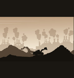 silhouette of bad environment with trash and vector image vector image