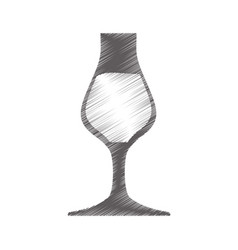 drawing glass cup drink vector image