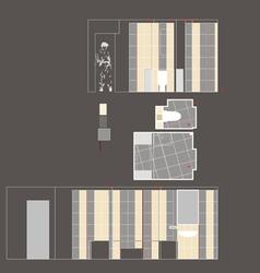 Drawing Room Walls vector image vector image