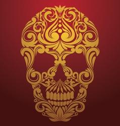 Gold Skull Ornamental vector image vector image