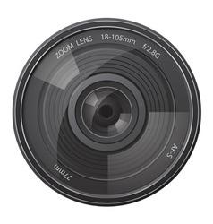 Lens photo camera vector