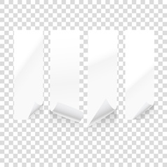 paper sheets isolated on transparent background i vector image vector image
