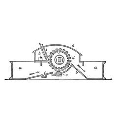 Pulp engine vintage vector