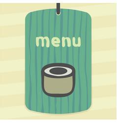 sushi roll japan food icon modern logo vector image