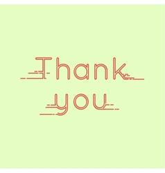 Thank you message card vector