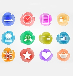 Creative colored icons for internet retail vector image