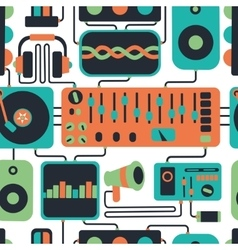 Electonic party seamless pattern vector image