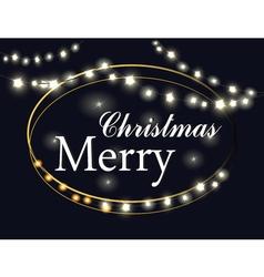 Merry Christmas Lights vector image