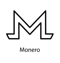 monero icon for internet money crypto currency vector image vector image