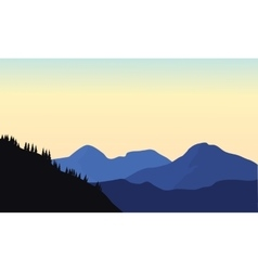 Silhouette of mountain a beautiful vector