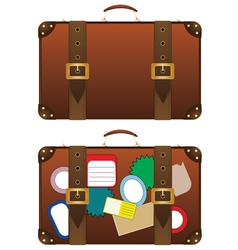 Traveling suitcase vector