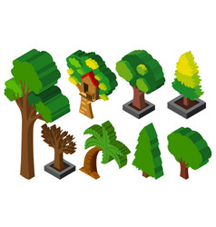 3d design for many types of trees vector