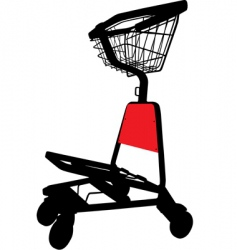airport trolley vector image vector image