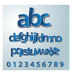 Alphabet set paper stickers labels tags vector image