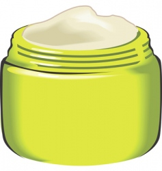 cream container vector image vector image