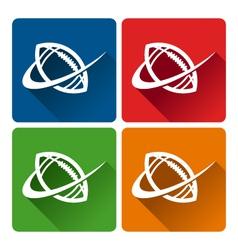 Football Logo Icons vector image vector image