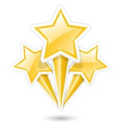 Golden stars on sticks - symbolic fireworks icon vector image vector image