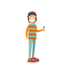 painter artist in flat style vector image