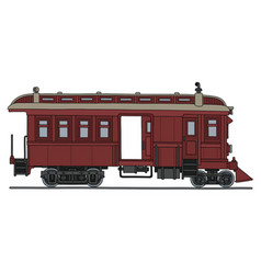 Vintage red motor railcar vector