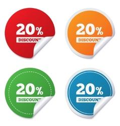 20 percent discount sign icon Sale symbol vector