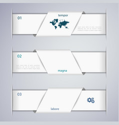 abstract 3d web banner design template vector image