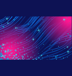 Abstract blue magenta night star background vector
