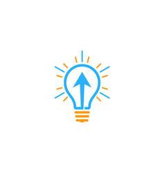 arrow idea logo icon design vector image