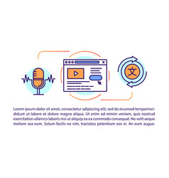 Audio and speech translation article page vector