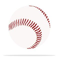 Baseball ball icon sport equipment concept vector