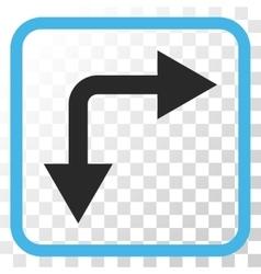 Bifurcation Arrow Right Down Icon In a vector