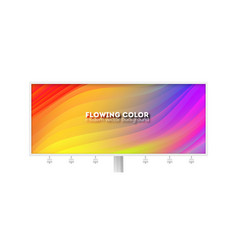 billboard with colorful liquid shape wave of vector image