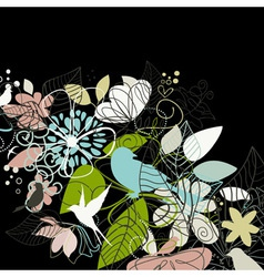 Birds a flower vector