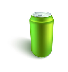 blank aluminum soda or beer can mockup in vector image