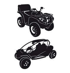 buggies and quads vector image