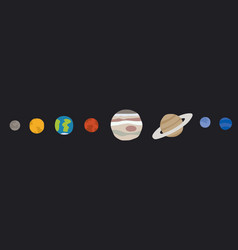 cartoon planets vector image