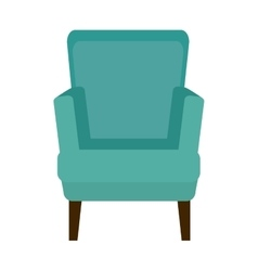 Chair confortable isolated icon vector