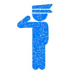 Child officer grunge icon vector