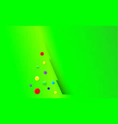 christmas background with green tree and vector image