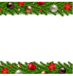 Christmas garland isolated white background vector