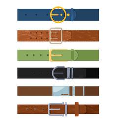 clothing belt set various colored belts vector image