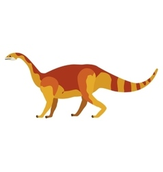 Colorful cartoon with dinosaur mamenchisaurus vector