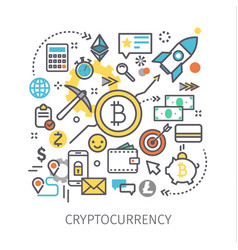 concept crypto currency vector image