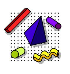 decorative elements 80s vector image
