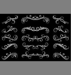 dividers black filigree floral decorations on vector image