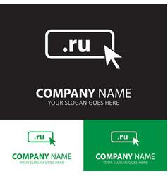 domain ru icon top-level internet vector image