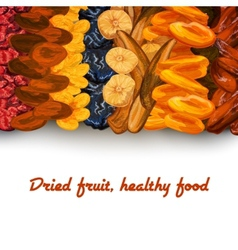 Dried fruit background print vector image