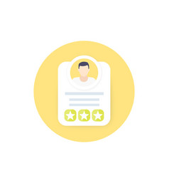 Employee review rating score icon vector