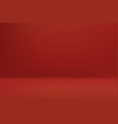 empty red color studio room vector image