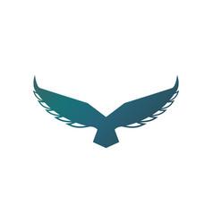 falcon soaring rising wings logo design vector image