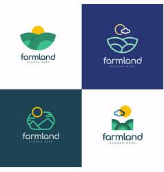 Farm land logo template design vector